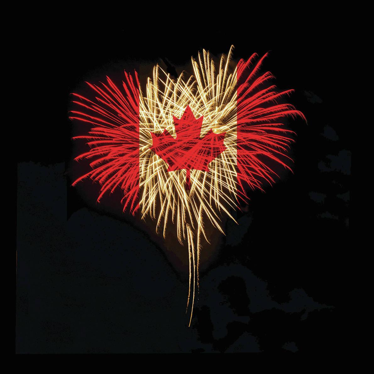 Canada Day theme Fireworks