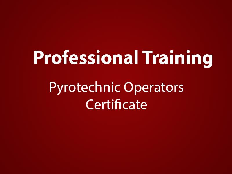 Pyrotechnics Certification